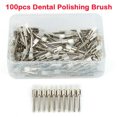 100Pcs Dental Prophy Latch Polisher Type Polishing Cups Tooth Bowl Brushes White