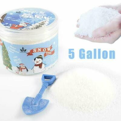 Instant Snow Fake Snow Powder Makes 5 Gallons of Artificial Snow for Cloud Slime