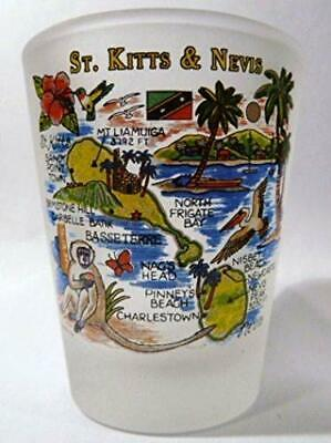 St.Kitts et-Nevis Carte Verre a Shot