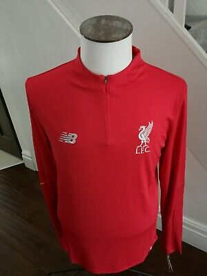 GENUINE MEN'S Liverpool fc training top/ ZIP UP / BNWT / LARGE  /RED   2018-19