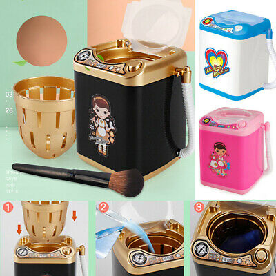 Mini Beauty Blender Washing Machine Wash & Dry Automatic Makeup Brush Clean Toy