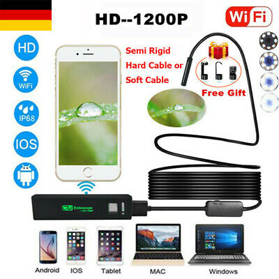 1/5/10M Wifi USB Wireless 1200P Endoskop Inspektion HD Kamera für iPhone Android
