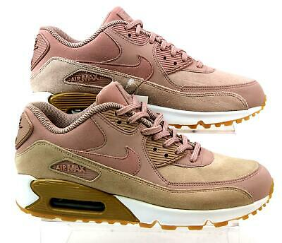 fba33b20ca Womens Nike Air Max 90 Leather Pink Suede Fitness Sport Trainers Uk Size 4  Faded