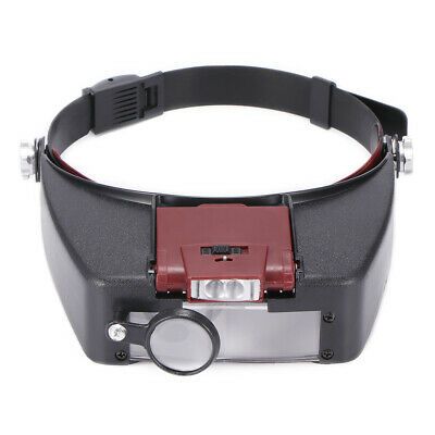 Lampe frontale LED loupe frontale Loupe Bijoutier Loupe 1.5X 3X 6.5X 8X