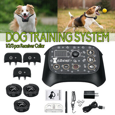 USB Electric Wireless Dog Pet Fence Containment System W/ 1/2/3 Receiver Collar