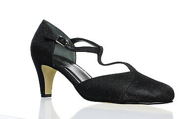 067a4885ed ROSE PETALS WOMENS Canopy Black Mary Jane Heels Size 7.5 (C,D,W ...