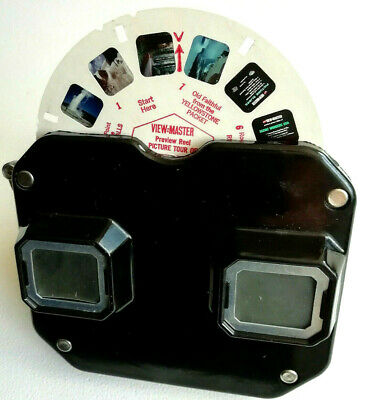 """VIEW-MASTER VIEWER Model """"C"""" + PREVIEW REEL """" SCENIC WONDERS U.S.A. """" Betrachter"""