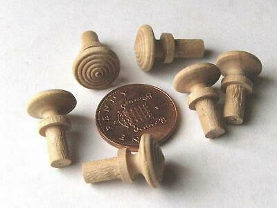 Small knobs, pulls, caddy, tiny handles, K2  pearwood, fruitwood, treen