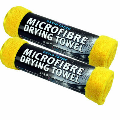 2x KENT MICROFIBRE TOWEL CLOTH EXTRA LARGE DRYING CAR CARE VALETING  5 SQ FT