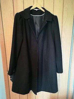Black Red herring maternity 12 Coat woven style