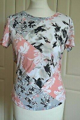 MARKS & SPENCER Pink Mix Short/Cap Sleeve TOP/T SHIRT Size 12