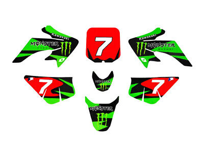 Kit déco ONE INDUSTRIES - Monster Energy - Type CRF50 - Dirt Bike