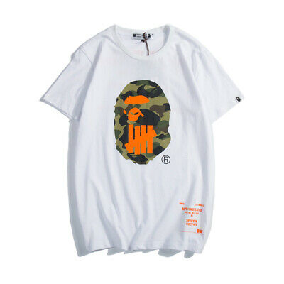 BAPE Summer Men's Joint Print T-Shirt Casual Round Neck Short Sleeve