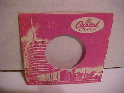 Original Capitol Vintage 7 Inch 45 Rpm Sleeve Only No Record Tower Hollywood
