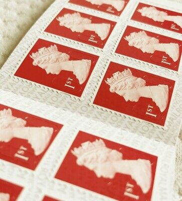 Royal Mail Stamps 10 x FIRST 1st CLASS Book of 12 Letter Stamp: 120 stamps WOOOW