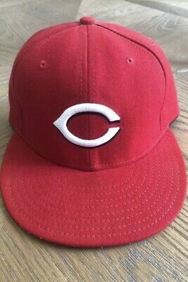newest 28b2c 47407 New Era Cincinnati Reds 59Fifty Fitted Hat (Red) MLB Field Cap