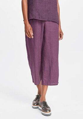 FLAX  Designs  Linen Pocketed Ankle  Pants   1G  /&  2G /&   3G   NWT 2018   COAL