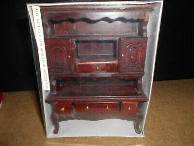 Unit  Miniature Sideboard cupboard LGW 1//12 dolls house Tall Mahogany Dresser