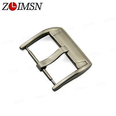 ZLIMSN Silver Brushed Clasp Stainless Steel Watch Band Pin Buckle Strap Part NEW