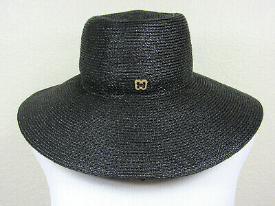 4c022e26 ERIC JAVITS WOMENS Straw Big Deal Fedora Woven Hat One Size - $80.00 ...