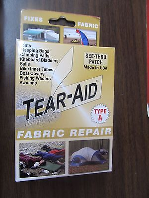 One (1) Tear-Aid Fabric Repair Type A Patch  NEW  FREE Shipping