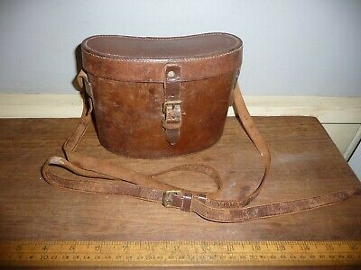 WW1 Leather Binocular case with large WW1   /| . War Dept.  marks and strap