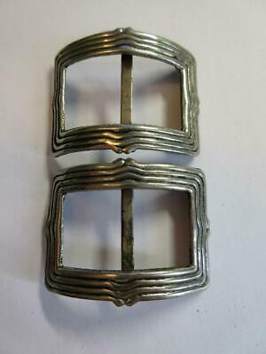Pair Of Antique Georgian, Victorian Steel Shoe Buckles!