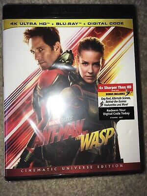 Ant-Man And The Wasp 4K (2-Disc Blu-ray, 2018)Avenger/Marvel.Part 2.Paul Rudd