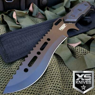 "12"" TACTICAL COMBAT SURVIVAL Rambo Full Tang FIXED BLADE KNIFE Hunting w/ SHEATH"
