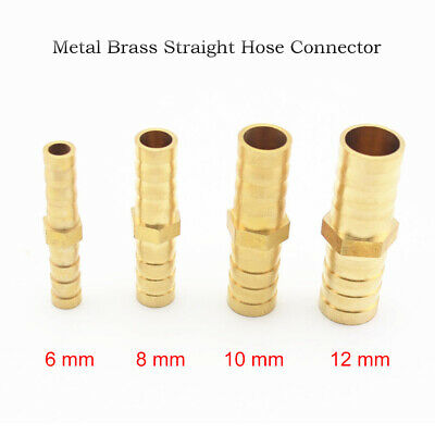 Brass Reducing Hose Joiner straight Barb Splicer Connector Water Pipe Fittings