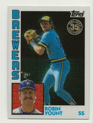 2019 Topps Series 2 Silver Pack 1984 Chrome Refractor #24 ROBIN YOUNT Brewers