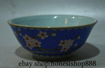 "6"" Old Chinese Royal Palace Color Porcelain Ceramic Plum Blossom Flower Bowl Pot"