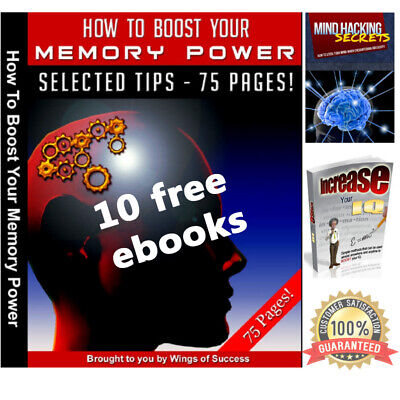 Ebook How To Boost Your Memory Brain Power PDF with Resell Rights Bonus 2 Ebooks