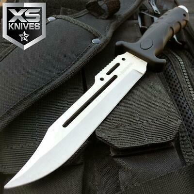 """10.5"""" Tactical Military Fixed Blade Hunting Bowie Combat Survival Knife W/sheath"""