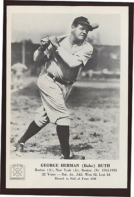 Babe Ruth 1963 Hall of Fame Picture Pack - NM/MT