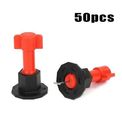 Tile Leveling System Reusable Update 50pcs Anti-Lippage Plastics+Stainless Steel
