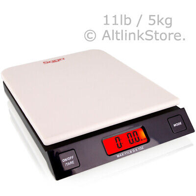 SAGA FOOD WEIGHT DIGITAL KITCHEN SCALE 11LB 5KG/5000G x 1G oz DIET POSTAL W/S/PK
