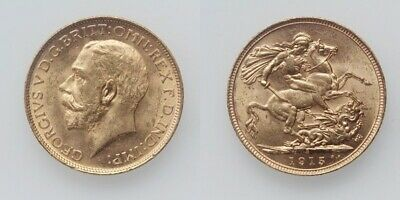 Australien George V. Sovereign 1915 S Sydney Gold