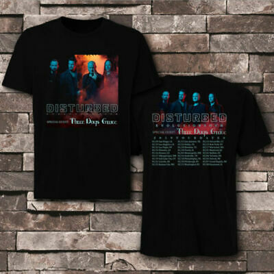NEW Evolution Tour Disturbed 2019 With Dates uk europe T-SHIRTS S-5XL