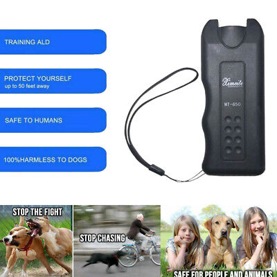 Pet Dog Anti Barking Ultrasonic Device Puppy Stop Training Repeller Trainer US