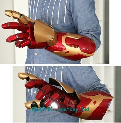 Cattoys 1:1 Iron Man Mk42 Arm With Laser Device+Palm Light +Sound Effect Cool