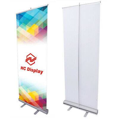 Retractable Roll Up Banner Stand Pop Up Trade Show Display Aluminium 85x200CM