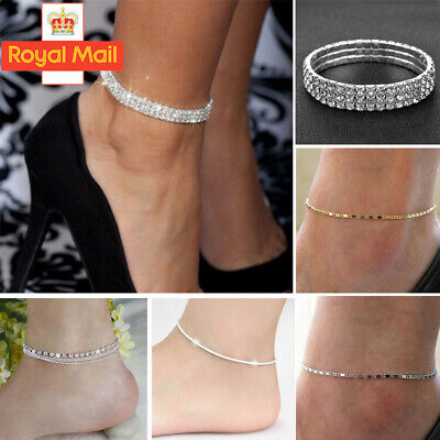 Fashion Gold/ Silver Simple Adjustable Ankle Bracelet Chain Anklet Foot Jewelry