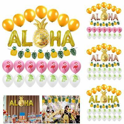 Hawaii Party Decorative Balloon Flamingo Tropical Coconut Balloons Party Decor
