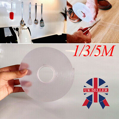 Traceless Washable Adhesive Tape Nano Invisible Gel Pad Grip Strong Reliable
