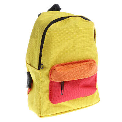 Mini Cloth Schoolbag Bag for 18inch American Doll Dress Up Accessory Yellow