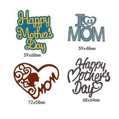 Happy Mother's Day Cutting Dies Metal Stencil DIY Scrapbook Album Paper Card HOT
