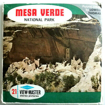 "3x VIEW MASTER 3D REEL "" MESA VERDE "" National Park 