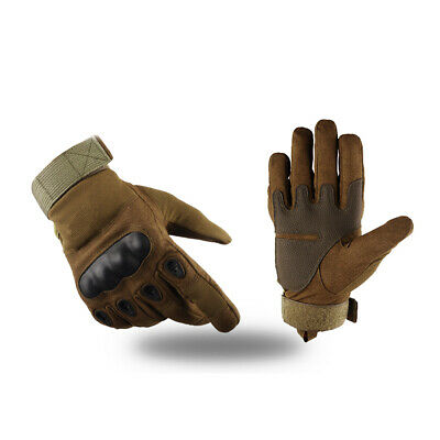 Professional Hard Knuckle Tactical Gloves Combat Motorcycle Cycling Riding Y9H4