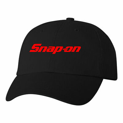Snap On Logo Dad Hat Tools Mechanics Auto Parts Racing Wrenches Ball Cap Black